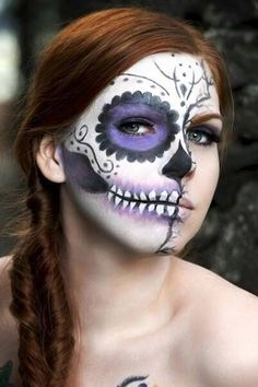 Day of the dead/ sugar skull inspired makeup by BreezyFrost.deviantart ...