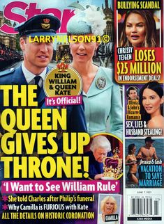 Queen Kate, Star Magazine, King William, For Stars, Camilla, Scandal, Bullying, Magazines, Romance