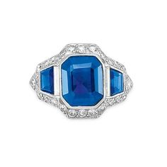 sapphire and diamond ring #jewelry shiny