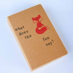 what does the fox say?  - hand stamped moleskine notebook pocket size