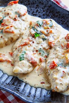 Chicken in a Creamy Parmesan and Sundried Tomato Sauce Recipe