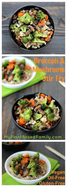Broccoli and Mushroom Stir Fry
