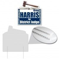 Gavel Shaped Yard Sign Corrugated Plastic Signs Are The Solution To Your Inexpensive Sign Needs Corrugated Plastic Corrugated Plastic Signs Advertising Signs