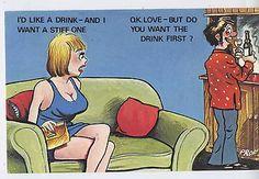 Vintage Cardtoon Series C27 Vintage Adult Humour Seaside Postcard 6   Comic/ Seaside Humour   Postcards - Zeppy.io