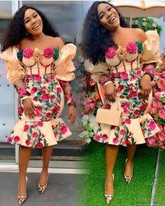 2020 Ankara Dresses Styles: Beautiful Ankara Styles To Rock - Dabonke : Nigeria Latest Gist and Fashion 2019 Lace Dress Styles, African Lace Dresses, Latest African Fashion Dresses, African Dresses For Women, African Print Fashion, African Attire, Ankara Fashion, African Wear, African Clothes