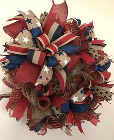 Patriotic Wreath Fourth Of July Wreath Independence Day