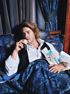 Brad Pitt photographed by Mario Sorrenti for W Magazine