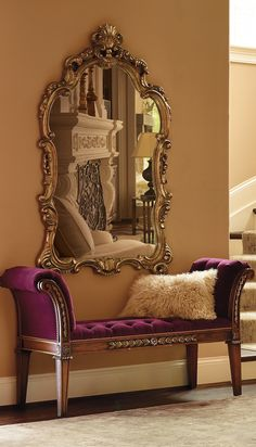 Perfect for hanging over a mantel or in your foyer, our grandly-scaled, scrolled-edge Chantal Wall Mirror is an elegant way to add reflective light and make your space feel even larger.