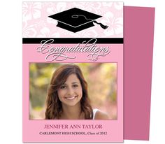Dandy Graduation Announcement Invitation Template  Printable Diy