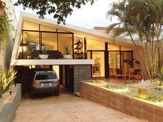 Feldman House: A Stunning Mid-century Home In Beverly Hills - Modern Architecture Midcentury Modern, Mid Century Modern Furniture, Midcentury Windows, Mid Century Exterior, Mcm House, Mid Century House, Mid Century Design, Modern House Design, Bauhaus