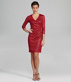 Marc New York Foiled Lace Dress #Dillards