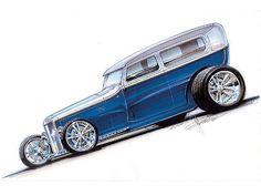 Ideas for my new street rod (More at pinterest.com/gary5mith/ideas-for-my-new-street-rod/) :Foose-designed Model A sedan