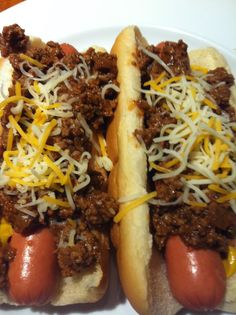 Chili dogs. Inmates love this lunch. They like french fries with them.