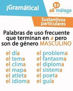Palabras masculinas que terminan en A #learnspanish