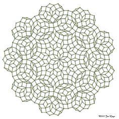 """Penrose tiling"" - by Jos Leys"