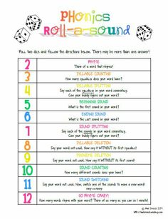 Phonological Awareness Dice Game: all you need is this game, two dice, and some words! Perfect for the traveling therapist! http://kiwispeech.weebly.com