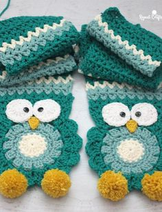 FREE PATTERN...Crochet Owl Super Scarf - Repeat Crafter Me