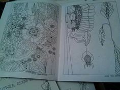 My coloring book,Creative bliss. Available in my etsy shop Laurie Jean kramer
