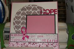 Free cancer Scrapbooking Layouts   12x12 Premade Scrapbook Layout Breast Cancer/ Breast Cancer 3-Day PINK