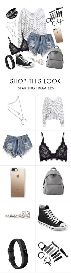 """""""How is everyone doing?"""" by zi-and-astro ❤ liked on Polyvore featuring Wildfox, Anine Bing, Casetify, STELLA McCARTNEY, GUESS, Converse and Fitbit"""