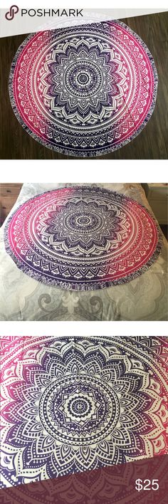 Pink & Purple Tapestry Brand new. Perfect for the beach or park or to hang on your wall with some lights! Pictured on a queen size bed.     ▪️I DO NOT TRADE. ▪️ Price is firm.  ▪️ 10% off bundles. Other