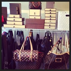 #louisvuitton #purse #storage - s hooks didn't think of that one