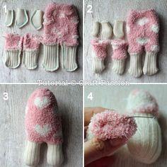 coudre corps de moutons de la chaussette