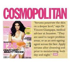 Magazines with Jeunesse Global's products featured. For your FREE 7 day Trial of Luminesce Serum go to http://karonduffin.jeunesseglobal2.com/