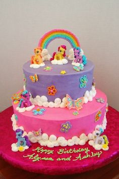 "My Little Pony Birthday Cake | Be kind, for everyone you meet is fighting a hard battle."" -Plato"