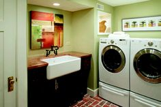 Such a cheery place - a basement laundry room remodel