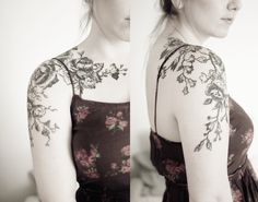 flower tattoos on wrist black and white - Google Search