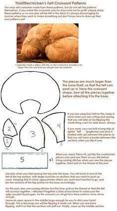 Felt Croissant Plush Patterns by ~thislittlechicken on deviantART