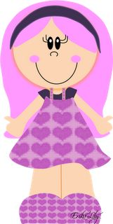 - Cute Girls, Little Girls, Girls Clips, Kawaii Cute, Paper Piecing, Clipart, Easy Drawings, Paper Dolls, Machine Embroidery