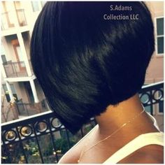 Advertisement: Do you want to create some switch to your old boring hairstyle? Do you wish to try out the appealing and fabulous layered bob hairstyles for the short hair? These layered bob hairstyles are for you personally! Love Hair, Great Hair, Gorgeous Hair, Layered Bob Hairstyles, Pretty Hairstyles, Bob Haircuts, Black Hairstyles, Straight Hairstyles, Short Hair Cuts