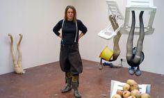 ~ atelier ~  .. X ღɱɧღ    A Eureka! feeling ... Sarah Lucas in her studio in Suffolk. Photograph: Eamonn Mccabe