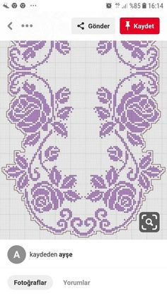 Previous 3 of 3 Handmade crocheted table center in your desired length, filet crochet lace trim, linear or turning edge for home décor and table Cross Stitch Borders, Cross Stitch Flowers, Cross Stitch Designs, Cross Stitching, Cross Stitch Patterns, Crochet Table Runner, Crochet Tablecloth, Crochet Doilies, Crochet Lace