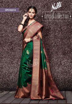 stunning, the always in green and maroon, Nalli Kanjivaram Saree Indian Silk Sarees, Indian Beauty Saree, Pure Silk Sarees, Kanjivaram Sarees Silk, Banarsi Saree, Bridal Silk Saree, Saree Wedding, Wedding Bride, Wedding Ideas