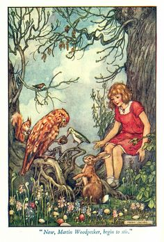 illustration by Helen Jacobs - from 'Paths in Storyland' by Stella Mead 'When Polly Rose Was Lost'