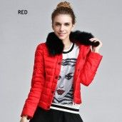 2014 Winter new Korean version of the luxury big fox fur collar Slim Down a short section of European and American women was thin coat jacket