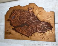 Topographic Map, Butcher Block Cutting Board, Leather Craft, Products, Leather Crafts, Gadget