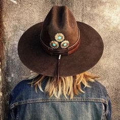 Richard Schmidt vintage western/cowboy hats with handmade turquoise jewelry