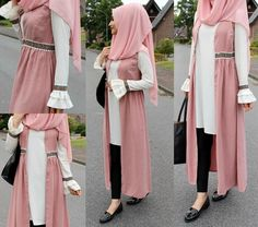 No photo description available. Modest Fashion Hijab, Modern Hijab Fashion, Street Hijab Fashion, Casual Hijab Outfit, Hijab Fashion Inspiration, Hijab Chic, Abaya Fashion, Fashion Wear, Fashion Outfits