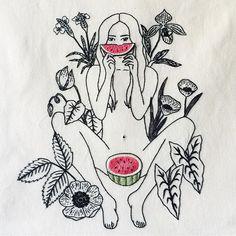 Esse foi feito antes da viagem, especial para a capa da revista @melanciamag de julho! ❤️ #clubedobordado #bordado #embroidery #broderie #ricamo #handembroidery