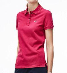 Lacoste Women's Short-Sleeve Pique Polo Shirt in Original Fit…