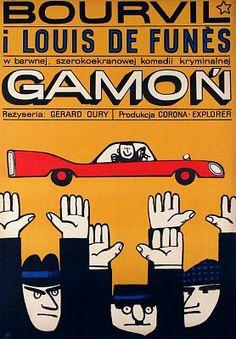 Vintage Polish movie poster 1966 by Wiktor Gorka : Gamon