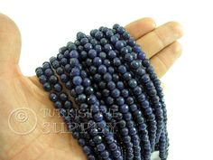 Jade Beads, 6mm Round Faceted Navy Shades Jade Bead Strands, One 1 Full Strand Semiprecious Gemstone Beads, Loose Beads by turkisheyesupply on Etsy https://www.etsy.com/listing/268548625/jade-beads-6mm-round-faceted-navy-shades