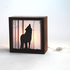 Nightmare guard/ Wolf forest light box Made to door evolvinghabitat, $75,00