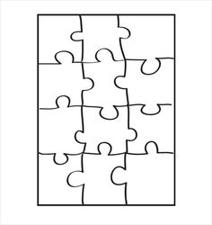 What could be a more entertaining game than a jigsaw puzzle? If you're a teacher or a parent looking to make a great photo puzzle for your kids or… Blank Puzzle Pieces, Puzzle Piece Crafts, Puzzle Piece Template, Free Printable Puzzles, Puzzle Maker, Ideias Diy, Coloring Pages For Kids, Kids Coloring, Colouring