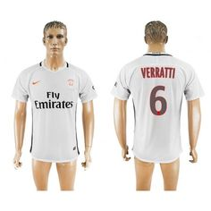 Paris Saint Germain PSG 16-17 Marco #Verratti 6 TRødje trøje Kort ærmer,208,58KR,shirtshopservice@gmail.com