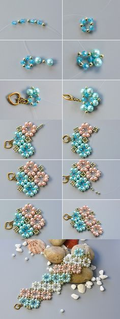 flower beaded bracelet. -   The tutorial will be published by…